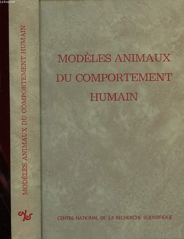 N° 198 - MODELES ANIMAUX DU COMPLRTEMENT HUMAIN