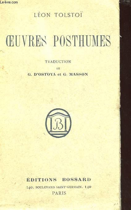 OEUVRES POSTHUMES - INEDITS - LE MYSTERE DE FEDOR KOUZMITCH - DERNIER ROMAN