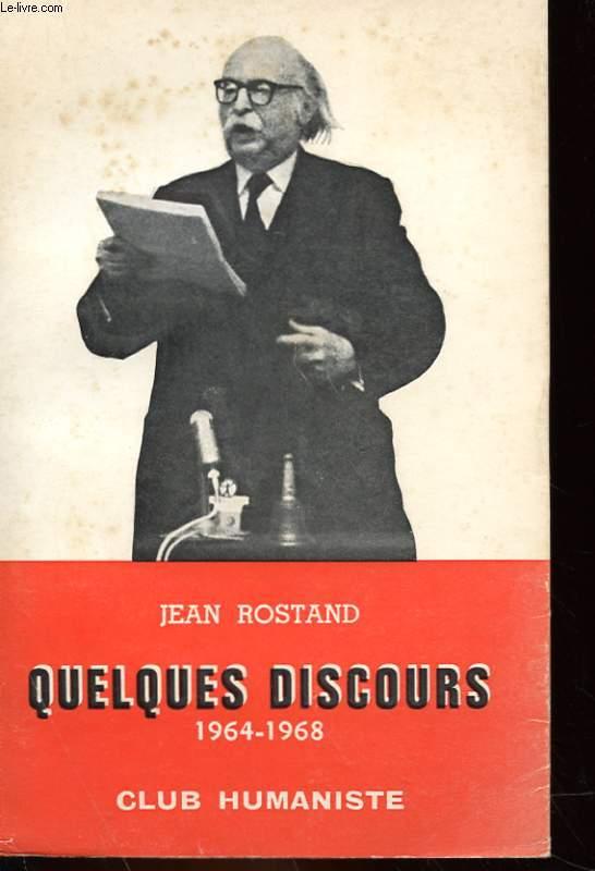 QUELQUES DISCOURS 1964-1968