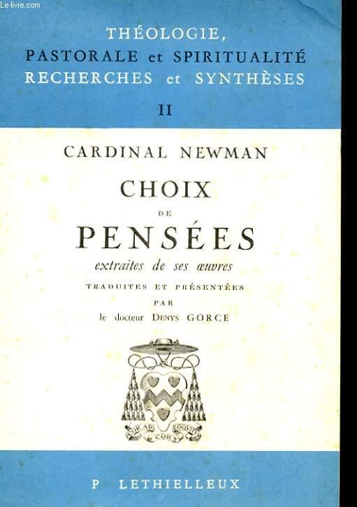 CHOIX DE PENSEES, EXTRAITES DE SES OEUVRES
