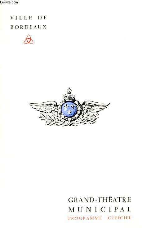 GRAND THEATRE MUNICIPAL - PROGRAMME OFFICIEL