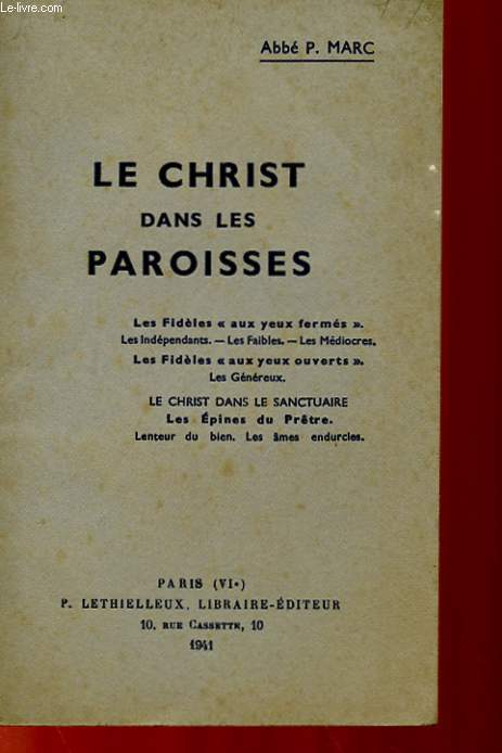 LE CHRIST DANS LES PAROISSES