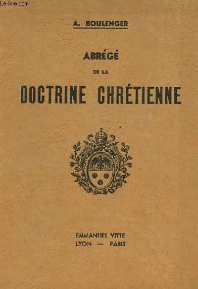 ABREGE DE LA DOCTRINE CHRETIENNE