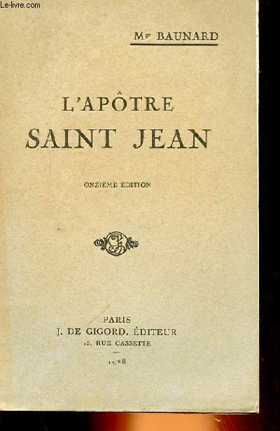 L'APOTRE SAINT-JEAN