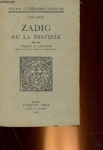 dissertation candide zadig