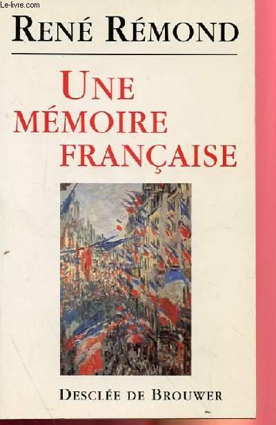 UNE MEMOIRE FRANCAISE