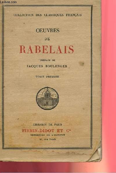 OEUVRES DE RABELAIS TOME PREMIER