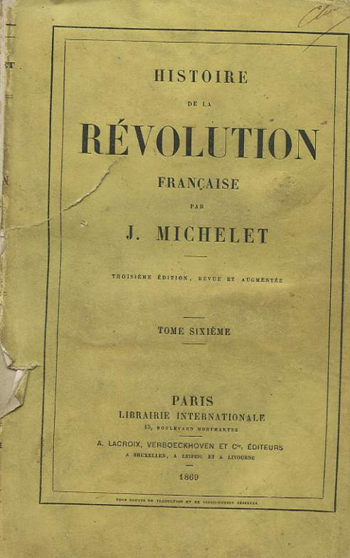 HISTOIRE DE LA REVOLUTION FRANCAISE TOME SIXIEME