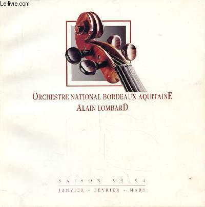 ORCHESTRE NATIONAL BORDEAUX AQUITAINE - JANVIER, FEVRIER, MARS