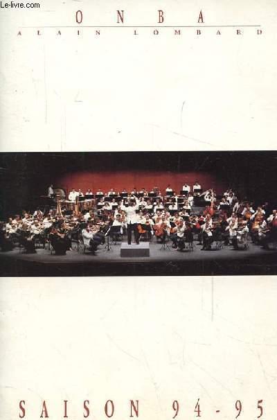 ORCHESTRE NATIONAL BORDEAUX AQUITAINE - OBNA SAISON 1994-95