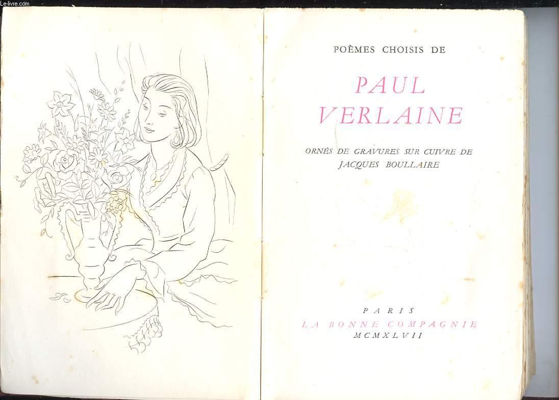 POEMES CHOISIS DE PAUL VERLAINE.