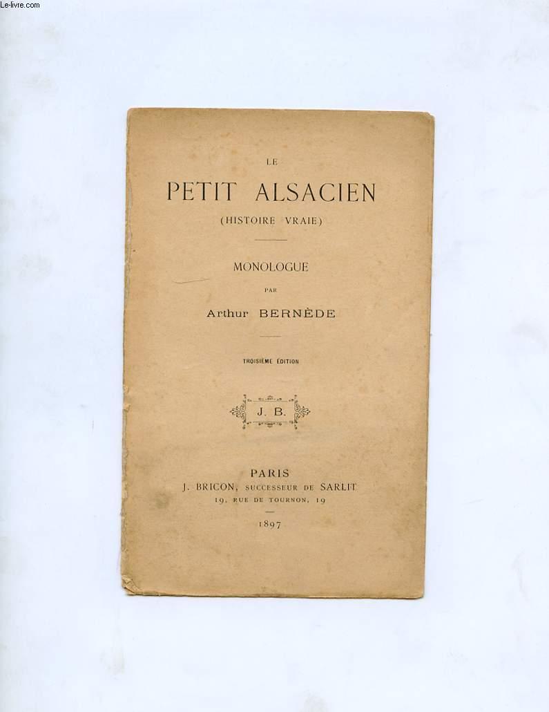 LE PETIT ALSACIEN ( HISTOIRE VRAIE ) MONOLOGUE