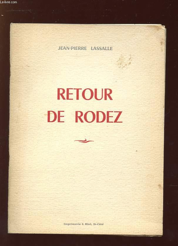RETOUR DE RODEZ.