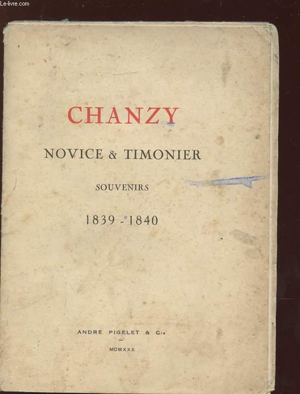 CHANZY NOVICE ET TIMONIER SOUVENIRS 1839 - 1840.