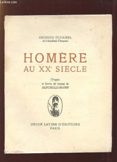 HOMERE AU XX SIECLE.