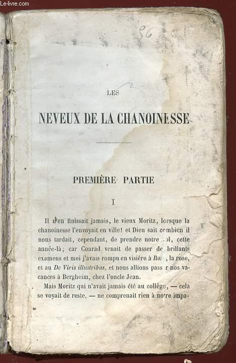 LE NEVEUX DE LA CHANOINESSE.