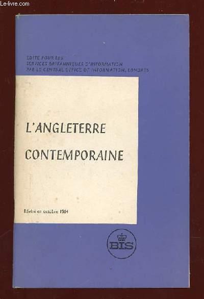 L ANGLETERRE CONTEMPORAINE.