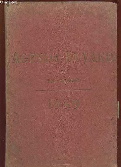 AGENDA BUVARD DU BON MARCHE 1889.