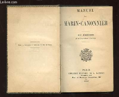 MANUEL DU MARIN CANONNIER 13e EDITION.
