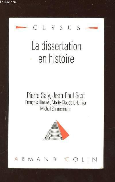 LA DISSERTATION EN HISTOIRE. 2em TIRAGE.