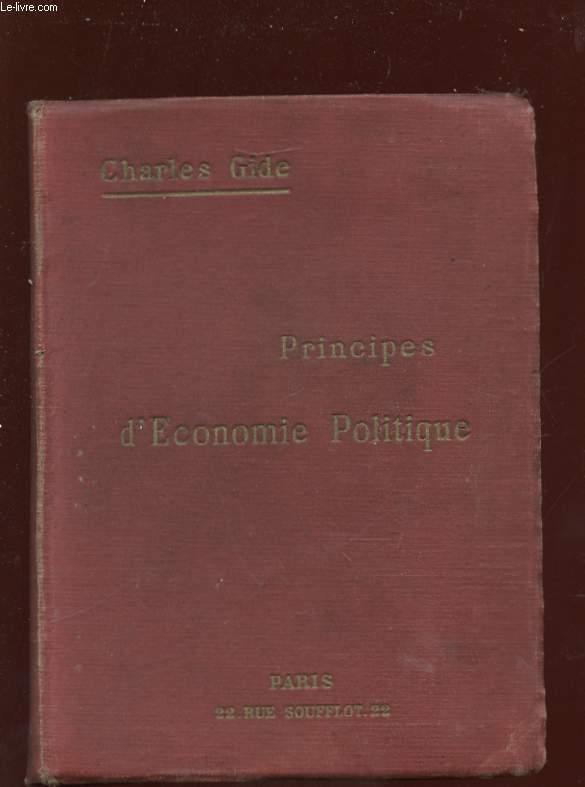 PRINCIPES D ECONOMIE POLITIQUE. 24em EDITION.