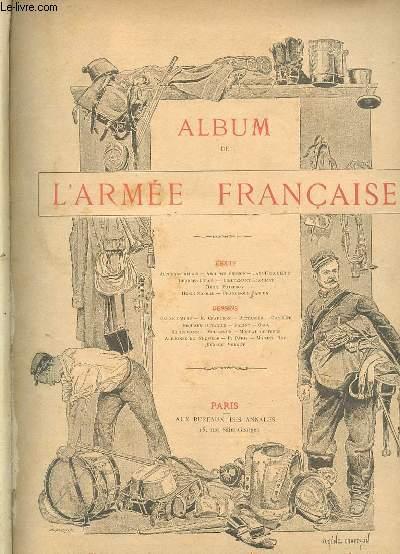ALBUM DE L ARMEE FRANCAISE + ALBUM DE LA MARINE FRANCAISE.