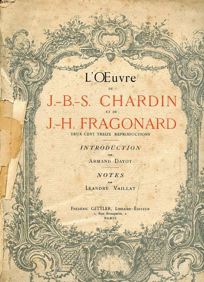 L OEUVRE DE JBS CHARDIN ET DE JH FRAGONARD.