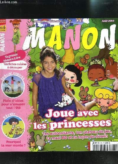 MAGAZINE MANON N°81 AOUT 2010