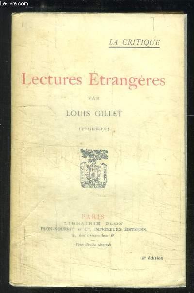 LECTURES ETRANGERES 1ère SERIE- 2ème EDITION