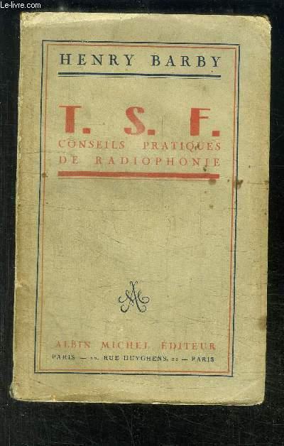 T.S.F. CONSEILS DE RADIOPHONIE