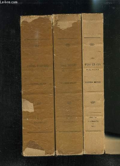 3 VOLUMES- 3 TOMES: LES GRANDS ECRIVAINS DE LA FRANCE - VICTOR HUGO LES CONTEMPLATIONS - NOUVELLES EDITIONS