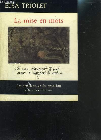 LA MISE EN MOTS- LES SENTIERS DE LA CREATION