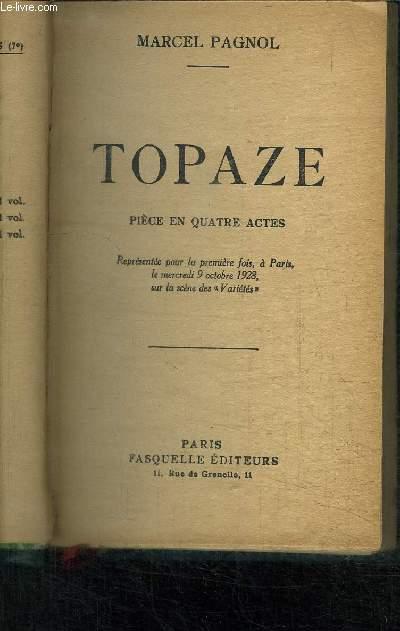 TOPAZE- PIECE EN 4 ACTES