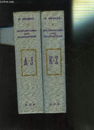 DICTIONNAIRE DES BIOGRAPHIES- 2 TOMES EN 2 VOLUMES