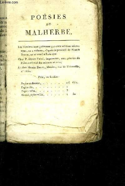 POESIES DE MALHERBE