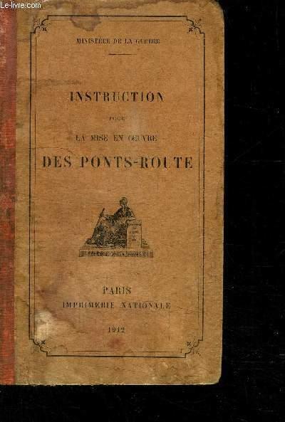INSTRUCTION POUR LA MISE EN OEUVRE DES PONTS-ROUTE