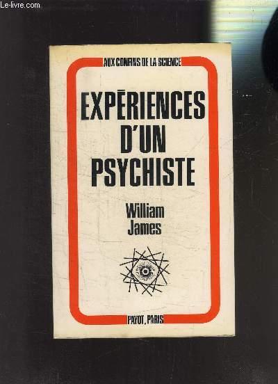 EXPERIENCES D UN PSYCHISTE
