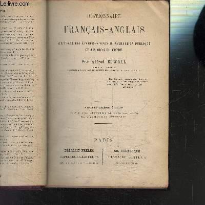 DICTIONNAIRE FRANCAIS-ANGLAIS - A L USAGE DES ETABLISSEMNTS D INSTRUCTION PUBLIQUE ET DES GENS DU MONDE