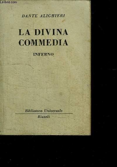 LA DIVINA COMMEDIA - INFERNO - OUVRAGE EN ITALIEN