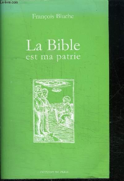 LA BIBLE EST MA PATRIE