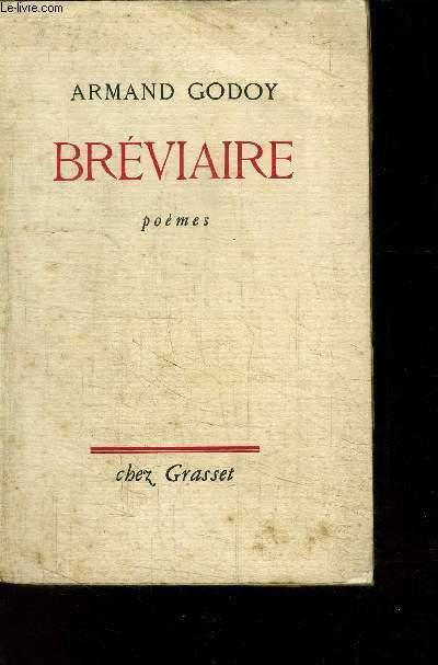 BREVIAIRE- POEMES - ENVOI DE L AUTEUR