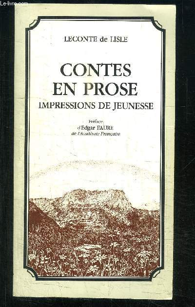 CONTES EN PROSE- IMPRESSIONS DE JEUNESSE