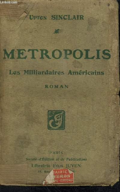 METROPOLIS (LES MULTIMILLIONNAIRES A NEW-YORK)