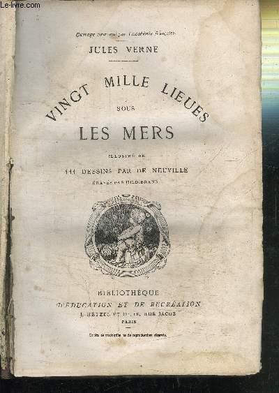 VINGT MILLE LIEUES SOUS LES MERS - COLLECTION HETZEL D'EDUCATION ET DE RECREATION