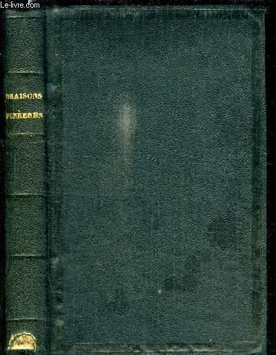 ORAISONS FUNEBRES - NOUVELLE EDITION SUIVANT LE TEXTE DE L'EDITION DE VERSAILLE