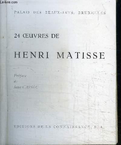 24 OEUVRES DE HENRI MATISSE - PALAIS DES BEAUX-ARTS, BRUXELLES