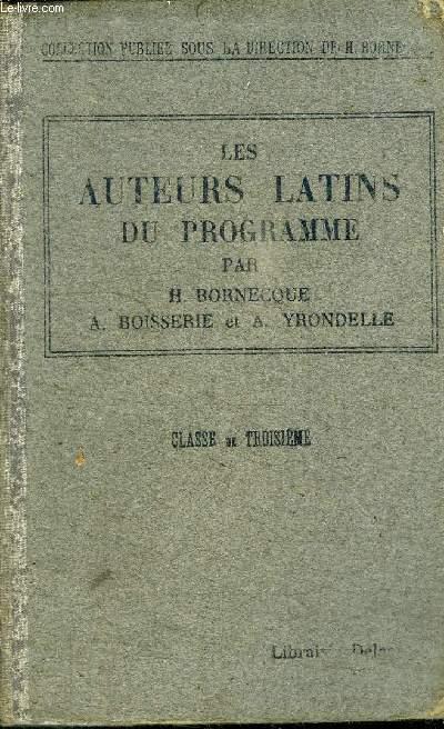 LES AUTEURS LATINS DU PROGRAMME (CLASSE DE 3è A)