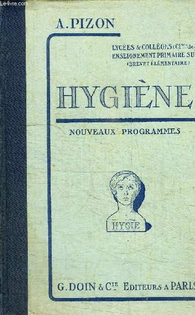 HYGIENE - NOUVEAUX PROGRAMMES - CLASSE DE 3è GARCONS ET FILLES