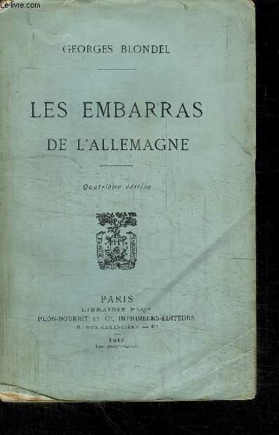 LES EMBARRAS DE L'ALLEMAGNE - 4è EDITION