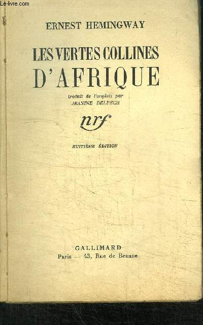 LES VERTES COLLINES D'AFRIQUE - 8è EDITION